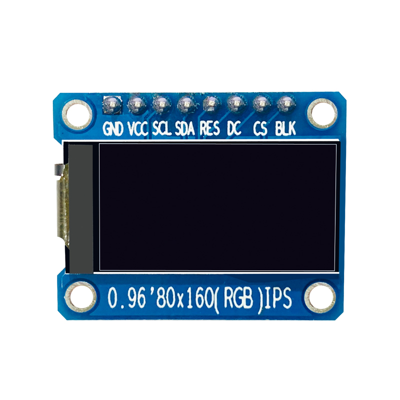 0.96 inch HD IPS  TFT 8Pin SPI Interface 65K full color TFT LCD module ST7735 driver IC 80 * 160 resolution