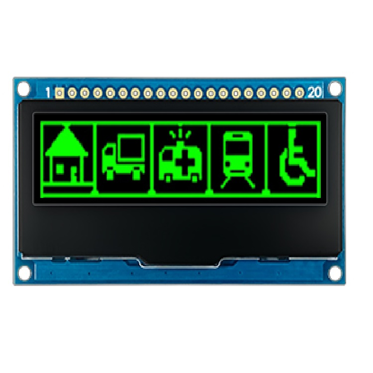2.23 inch 128*32 OLED  Display Module I2C SPI 20 pin interface SSD1305  Driver Chip